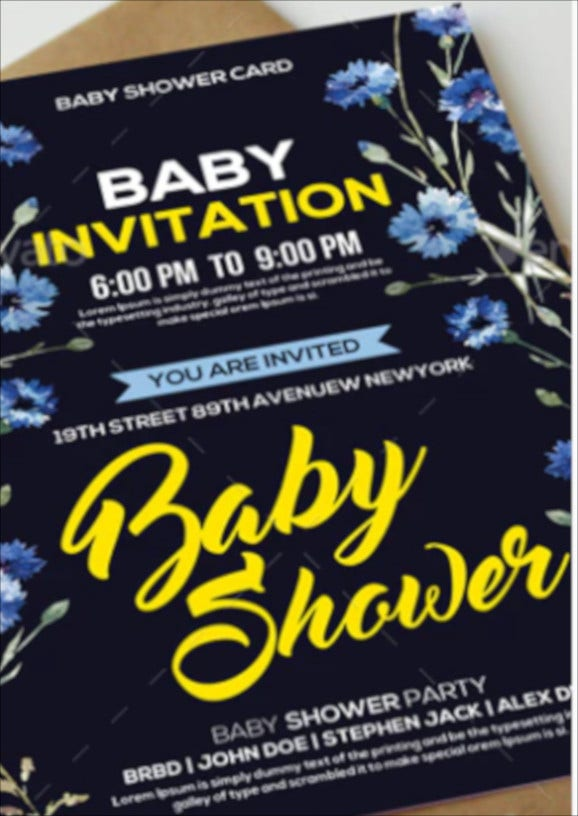 flower girl baby shower invitation