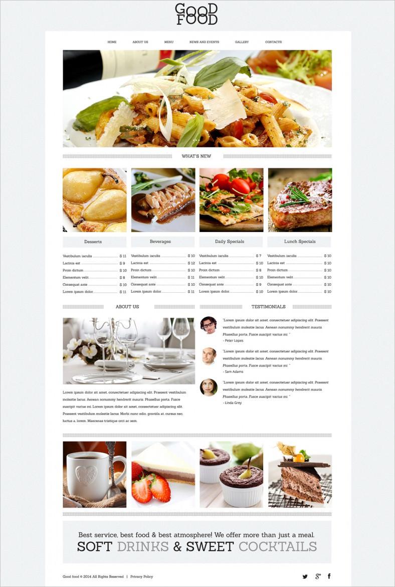 food drink cafe drupal template 788x1171