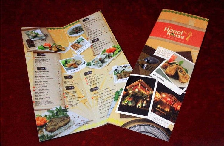 food menu template download