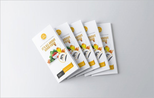 food menu trifold template