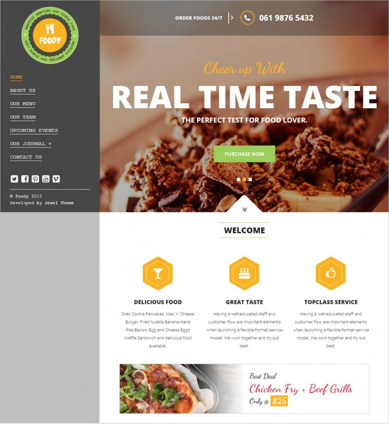 34 restaurant html5 website themes templates free premium responsive restaurant html5 website template 16 forumfinder Choice Image