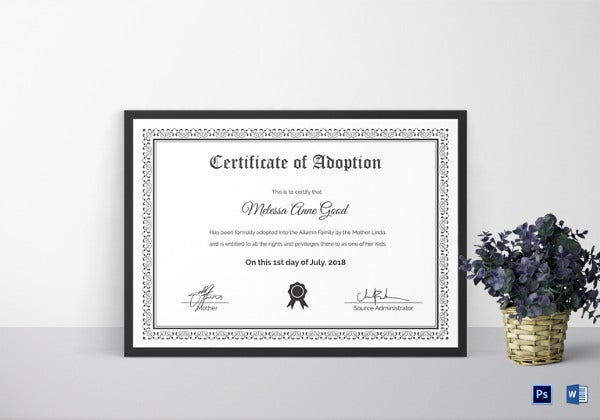 formal-certificate-of-adoption-word