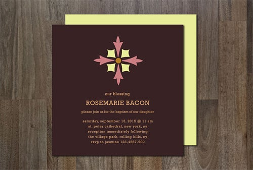 formal invitation template on wood