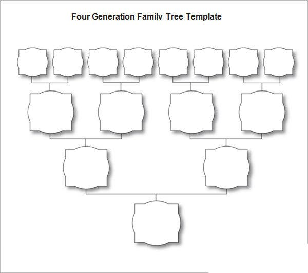 four generation blank family tree template free download