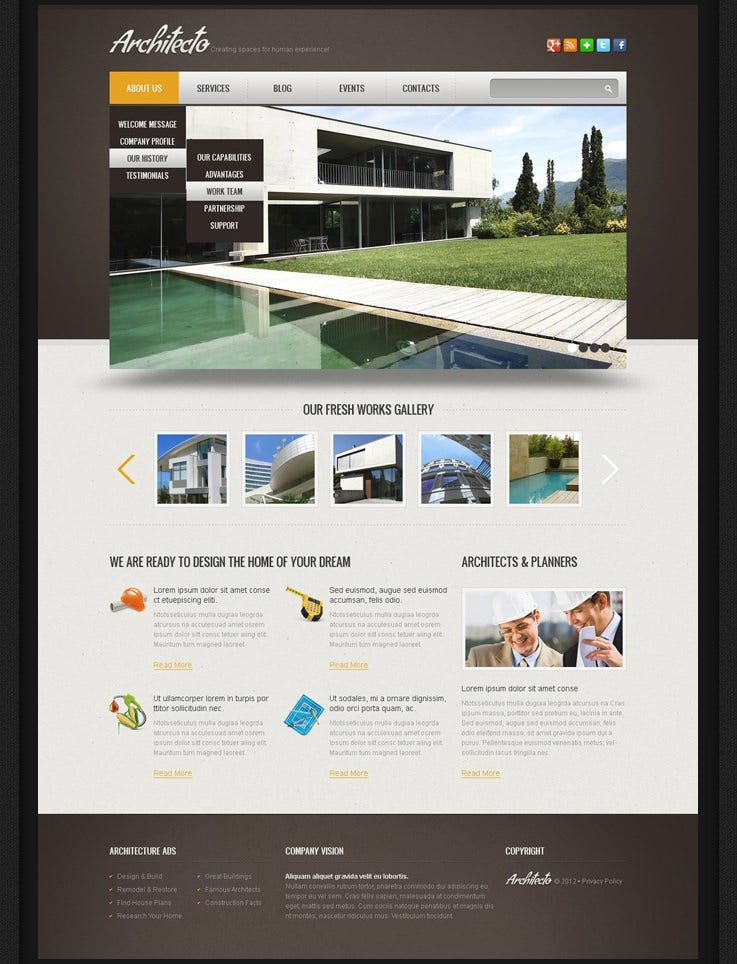 free architecto real estate drupal template