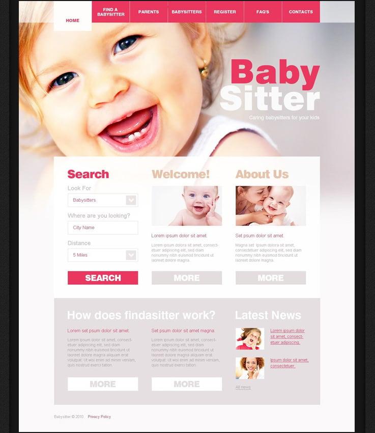 free babysitter kids drupal theme