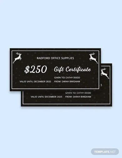 free chalkboard christmas gift certificate template