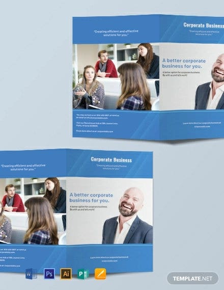 free corporate bifold brochure template1