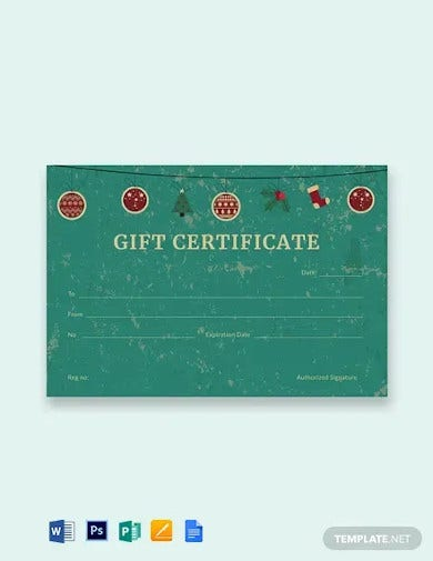 free creative christmas gift certificate template