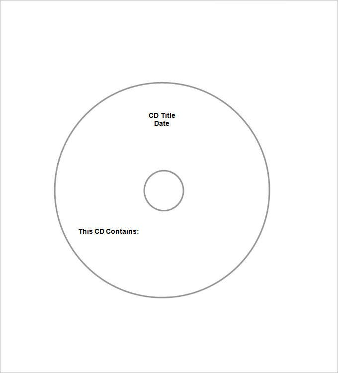 free dvd cd case template