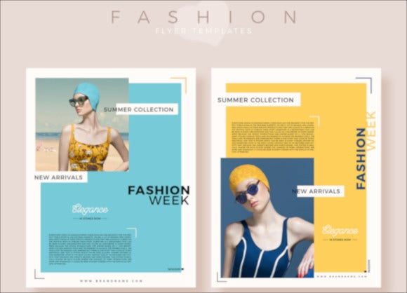 free download fashion flyer template