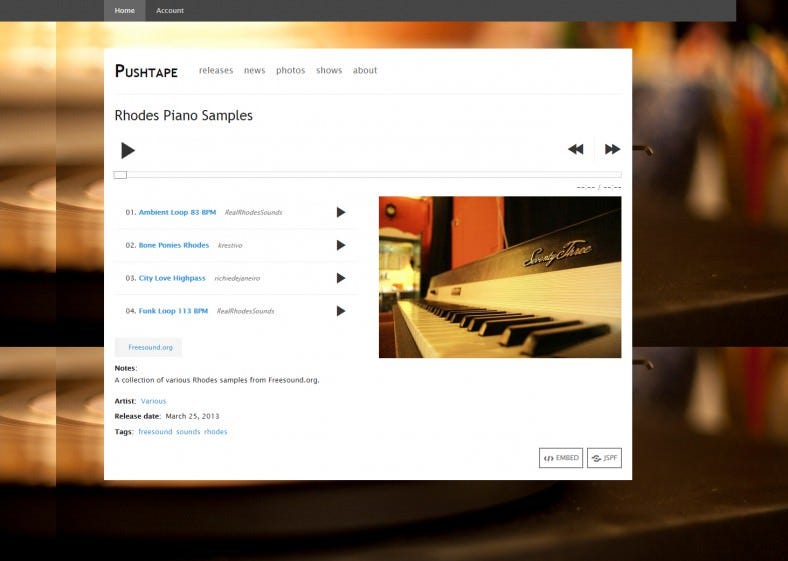 free drupal music template 788x561