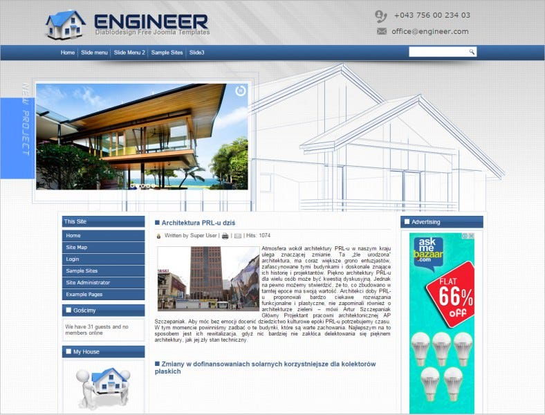 free engineer joomla theme 788x600