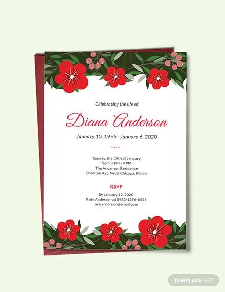 free funeral repast invitation