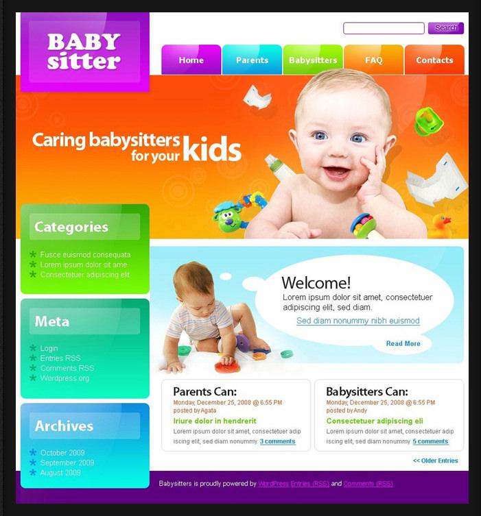 free kids responsive drupal template