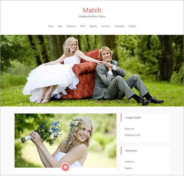 free match lite wedding responsive wordpress theme