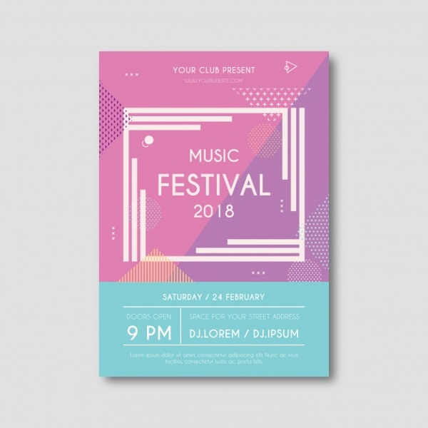 free modern music flyer template