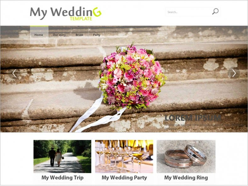 free my wedding responsive wordpress theme 788x593