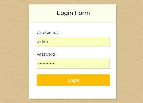 free php login form templates download