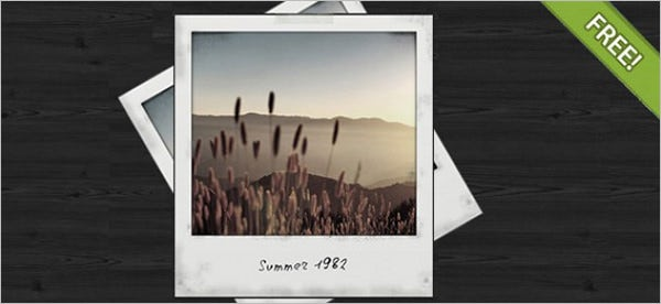 polaroid template 31 free psd format download free