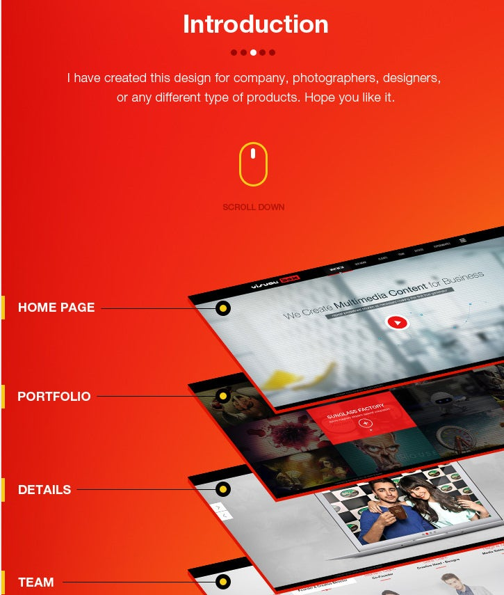free psd template visual box