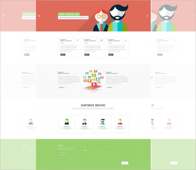 free psd template 134