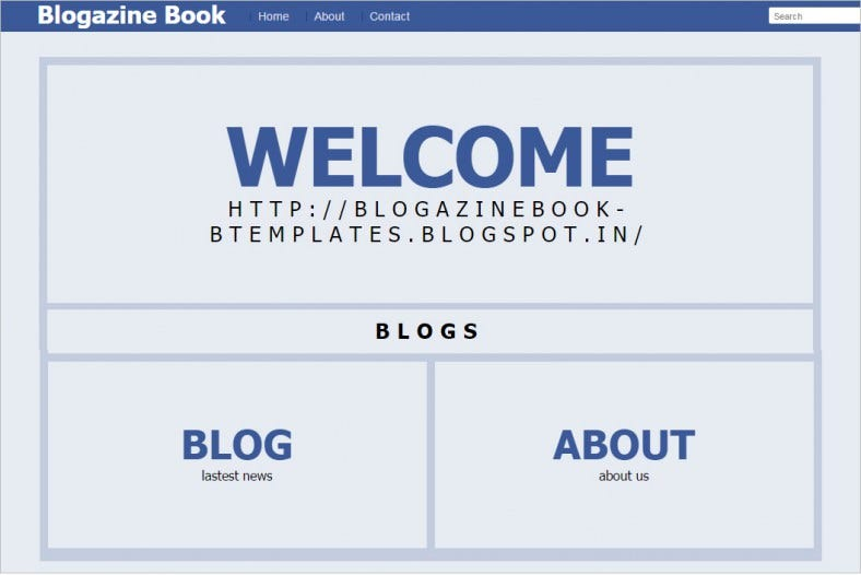 free responsive book blogger template 788x526