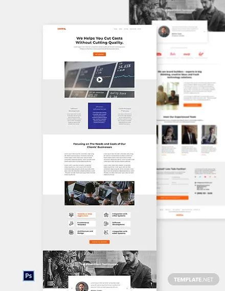 free software company website template