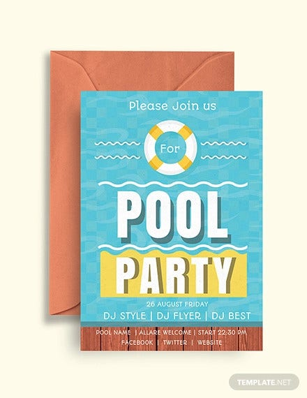 36+ Pool Party Invitation Templates - PSD, AI, Word | Free