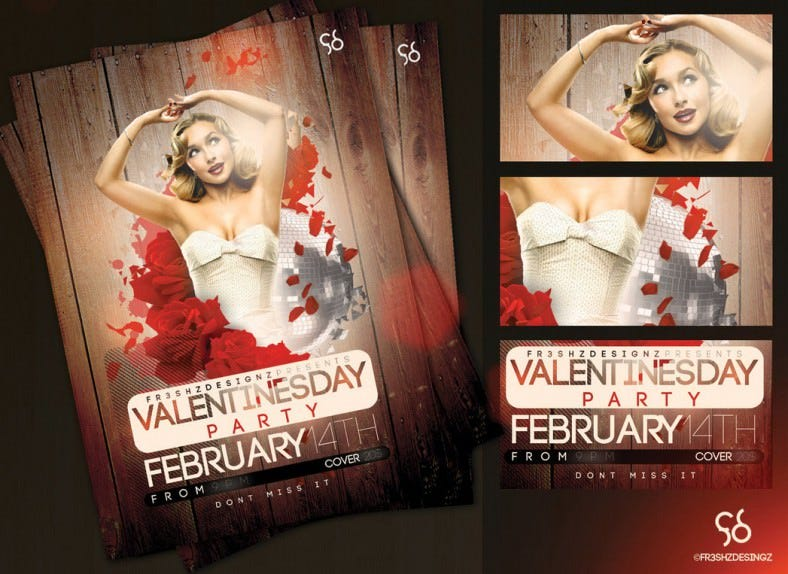 free vday flayer sample 788x574