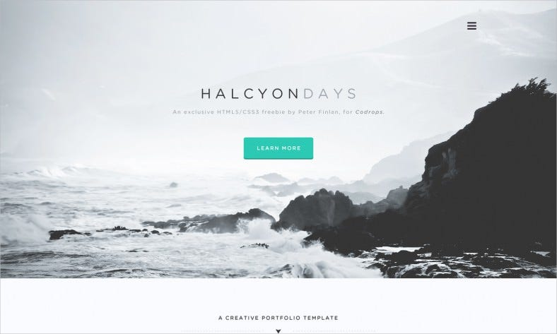 freebie psd halcyon days website psd 788x473
