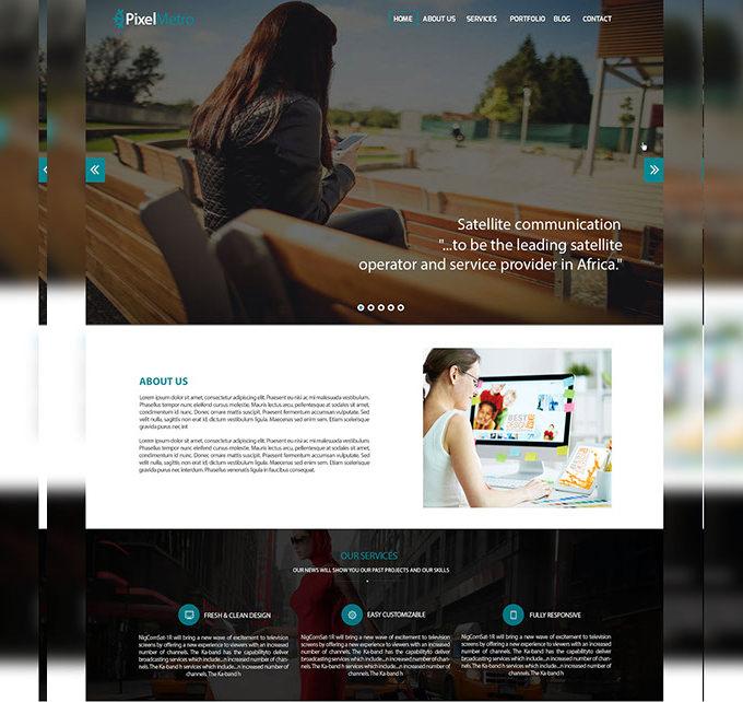 freebie corporate web psd template