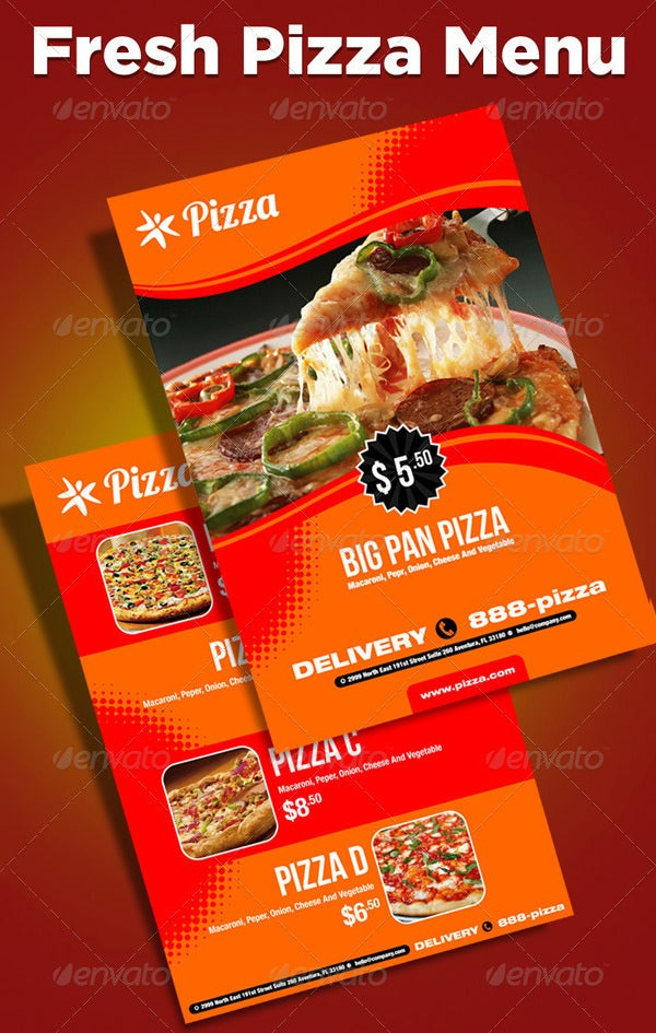 Pizza Menu Template – 25+ Free PSD, EPS Documents Download! | Free ...