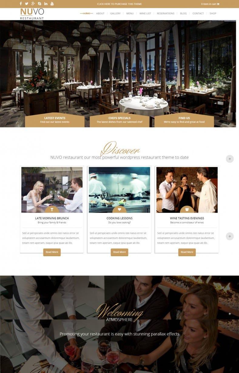 Fully Responsive Cafe & Bistro Drupal Theme