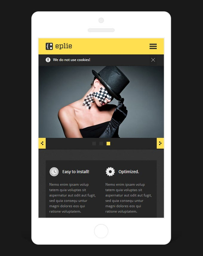 fully responsive design with portfolio template 8