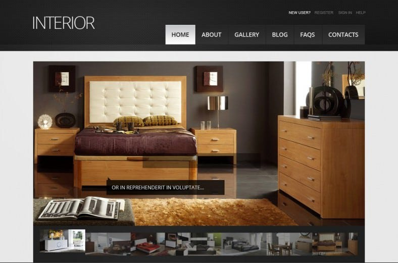 Fully Responsive Interior Design Drupal Theme