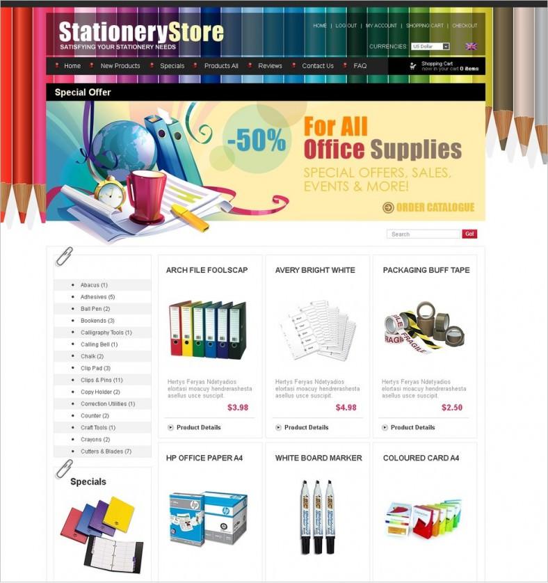 Stationery ZenCart Templates & Themes | Free & Premium | Free ...
