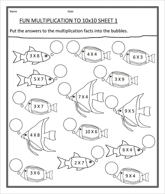 20 Sample Fun Math Worksheet Templates – Fun Multiplication Worksheet