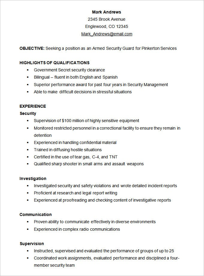 Functional Resume Style Template  Sample Of Qualification In Resume