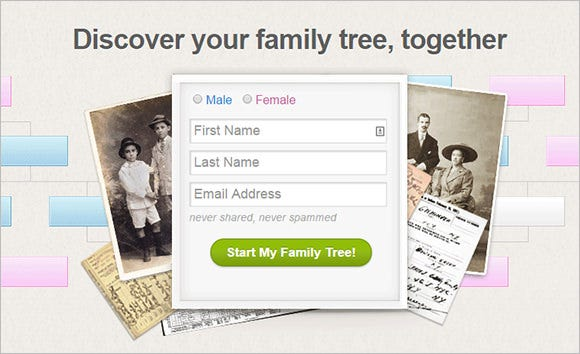geni family tree builder