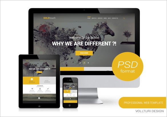 gold touch creative psd template