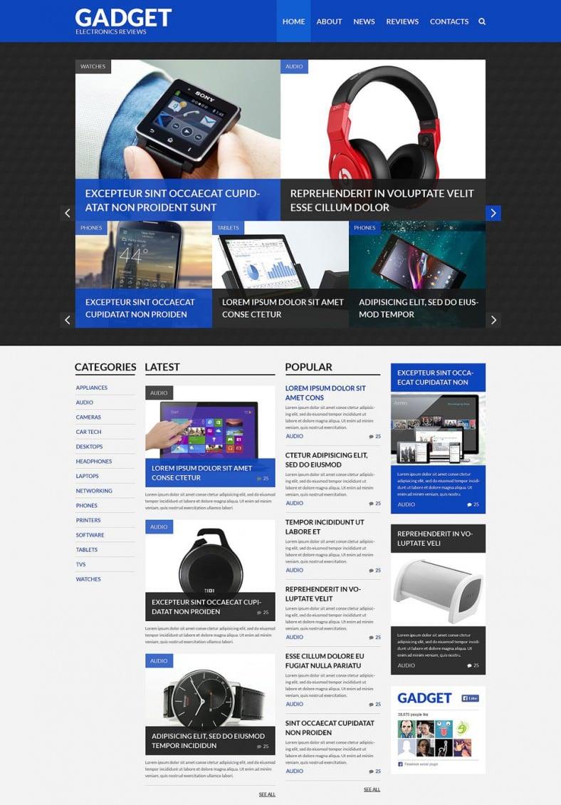 5 best electronics wordpress templates  u0026themes