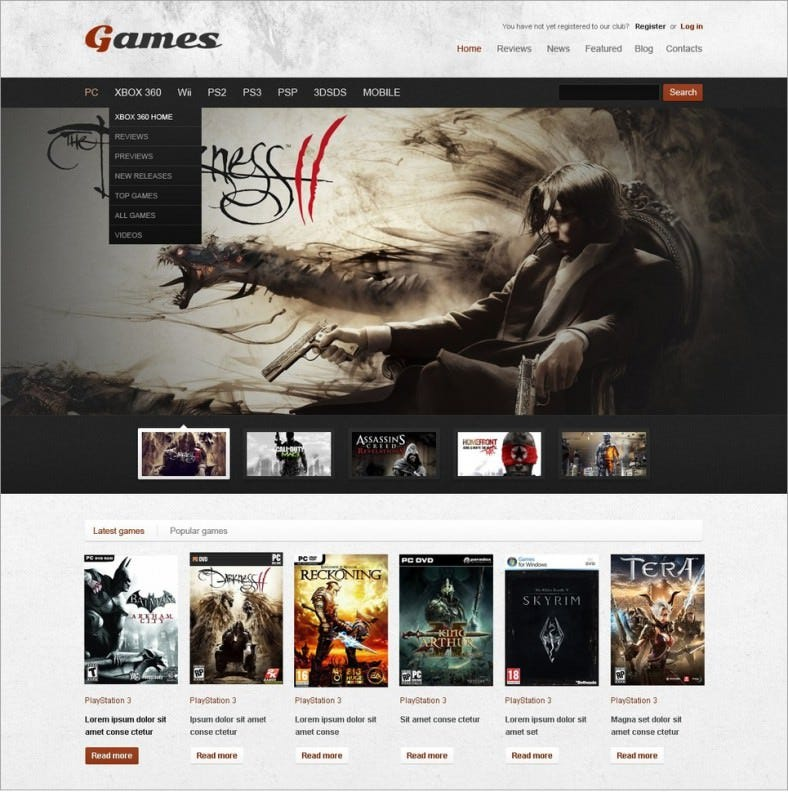 game portal grunge style responsive wordpress theme 68 788x792