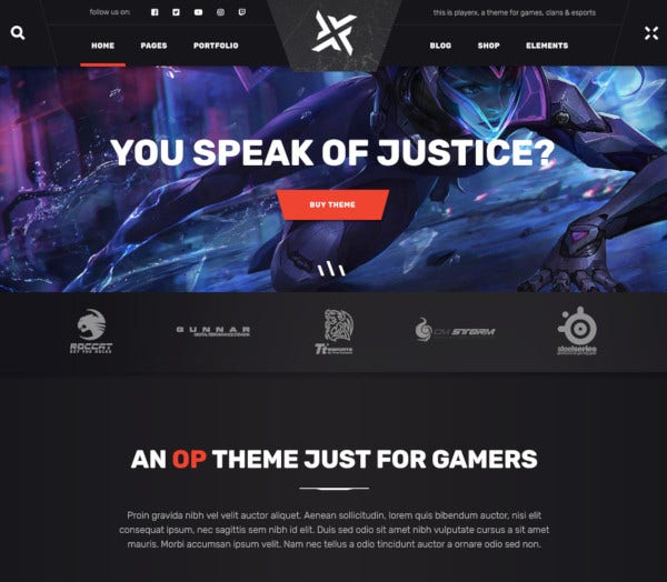 gaming and esports high powered theme