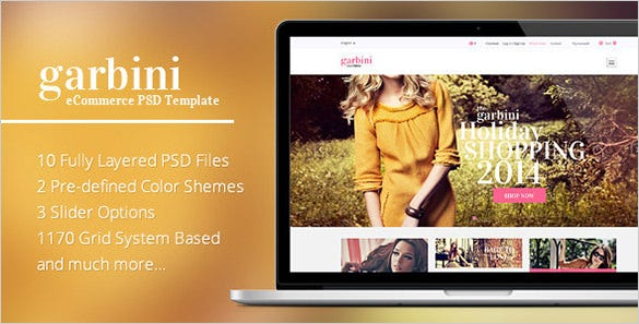 garbini ecommerce psd template