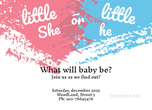 photograph about Printable Gender Reveal Invitations named 35+ Gender Describe Invitation Template Absolutely free Top quality Templates