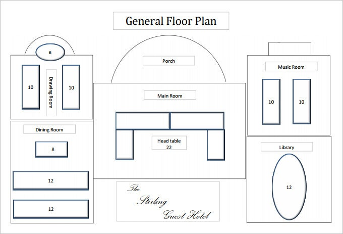 Floor plan templates 20 free word excel pdf documents for Free floor plan template excel
