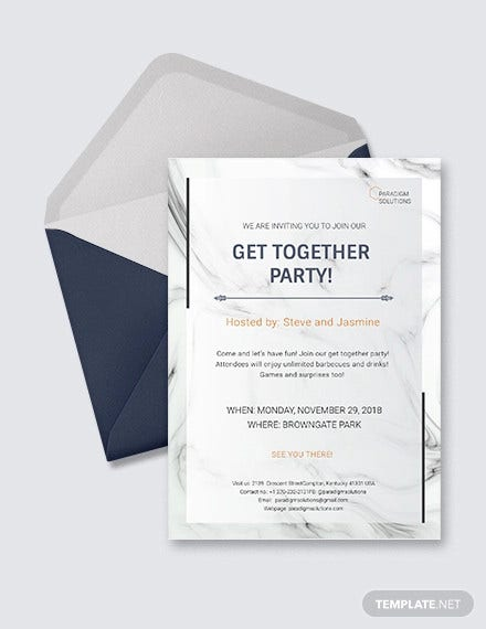 23 get together invitation templates psd pdf word publisher