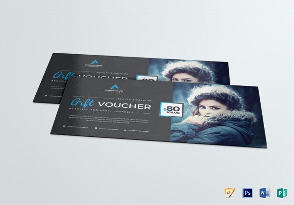 gift voucher psd template