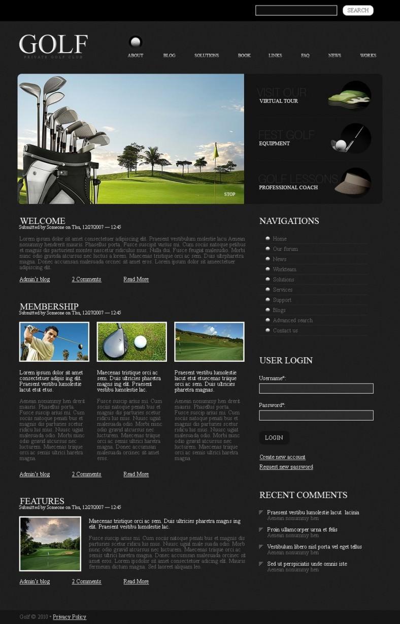 golf drupal template 788x1231